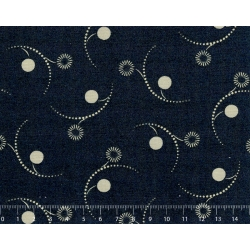 26th Centenary Collection by Yoko Saito, Tessuto Blu Notte con Scintille