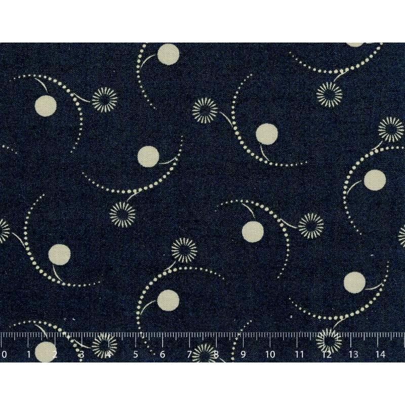 26th Centenary Collection by Yoko Saito, Tessuto Blu Notte con Scintille Stim Italia srl - 1