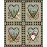 Maywood Studio Seasons of the Heart, Kit per Quilt 40 x 48 pollici con Flanelle già tagliate