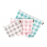 Gingham on the Go 3 Piece Project Bag Set, Set 3 Bustine Portalavoro