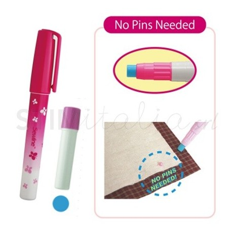 Sewline, Glue Pen - Colla Stick + Ricarica, Blu