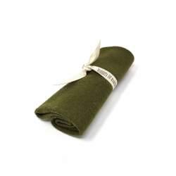 Tessuto Verde Bosco di Lana, circa 25 x 30 cm