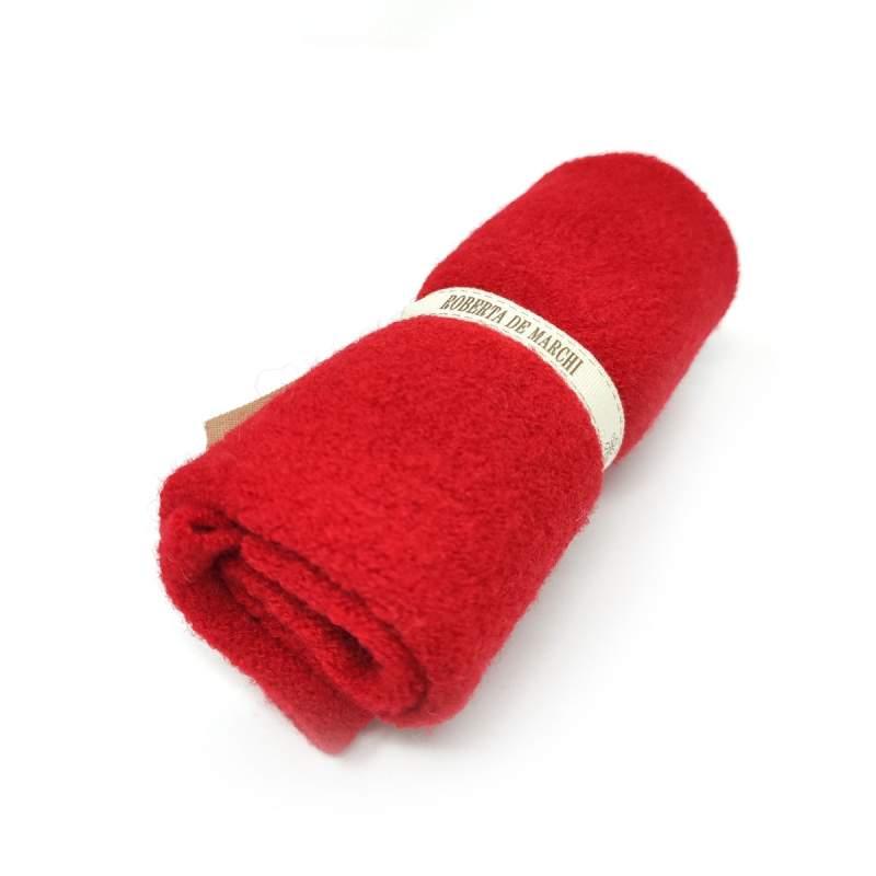 Tessuto Rosso di Lana, circa 25 x 30 cm Roberta De Marchi - 1