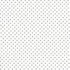 Moda Fabrics Essential Dots - Tessuto Bianco a Pois Neri