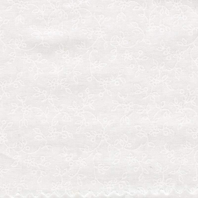 Tessuto Bianco con Viticci tono su tono, Solitaire Whites Maywood Studio - 1