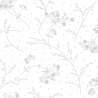 Tessuto Bianco con Rametti Fiorati Tono su Tono, by Kimberbell