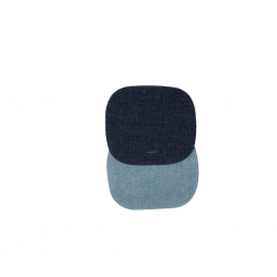 Bohin, Toppe Ovali da Applicare con Ferro da Stiro 9,8 x 8,3 cm, Blu Jeans