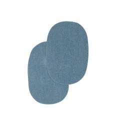 Bohin, Toppe Ovali da Applicare con Ferro da Stiro 10x15 cm cm, Azzurro Jeans