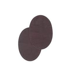 Bohin, Toppe Ovali Scamosciate 9,5x14 cm, Grigio Scuro