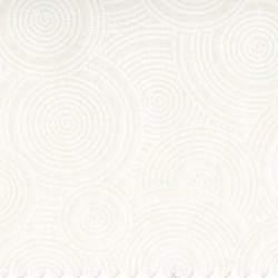 Basic Palette 108, Tessuto per Retro Quilt Bianco Latte con Cerchi Tono su Tono