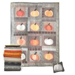 13 Pumpkins - Kit di tessuti dalla rivista Primitive Quilts Fall 2021