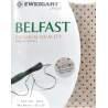 Puro Lino da Ricamo con Pois Rossi, fili contati 32ct - Zweigart Belfast Petit Point