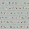 Henry Glass Love to Garden by Anni Downs, Tessuto Rosso con Disegni del Giardino