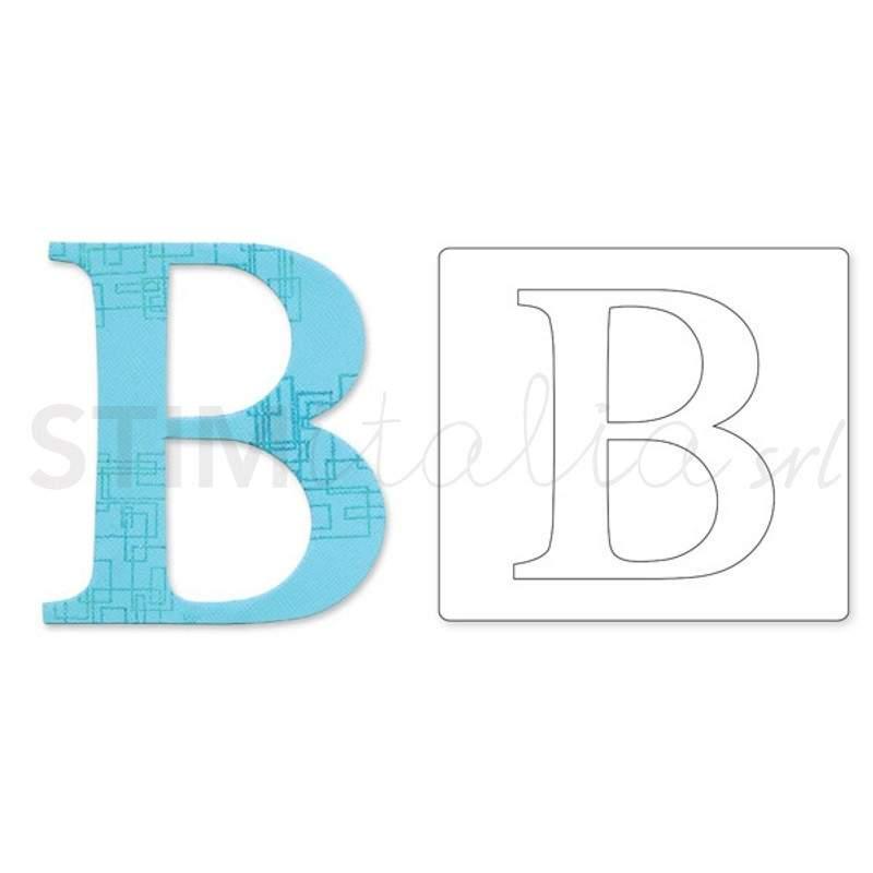 Sizzix, Bigz Alphabet Uppercase Die Sassy Serif Letter B by E.L. Smith