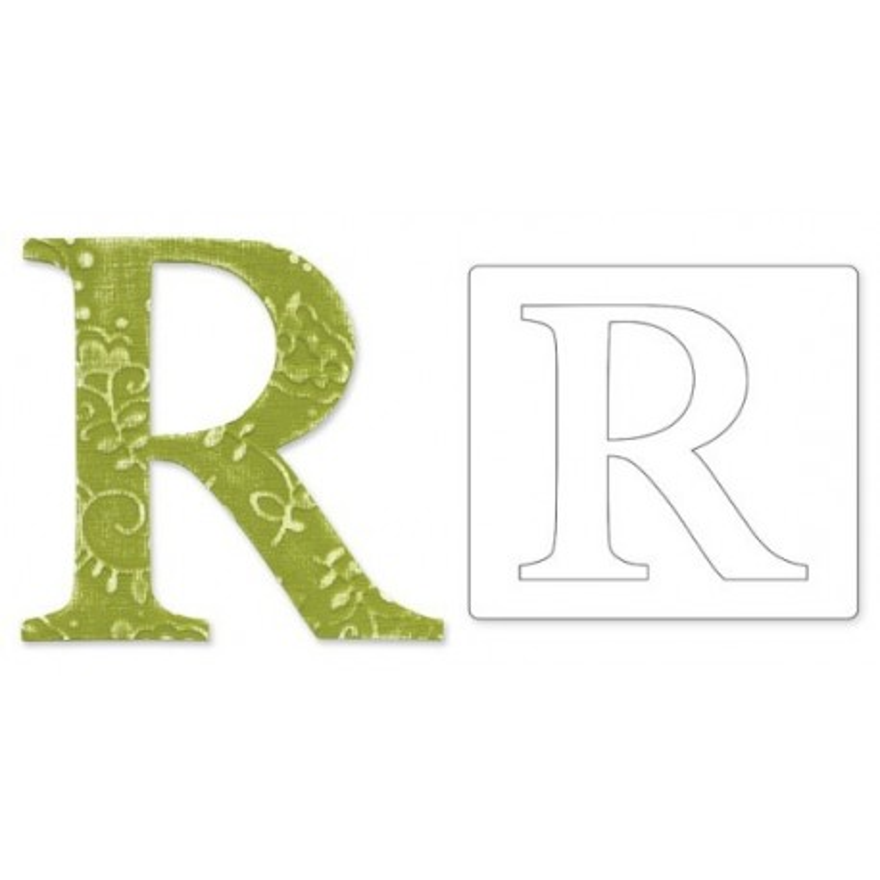 Sizzix, Bigz Alphabet Uppercase Die Sassy Serif Letter R by E.L. Smith