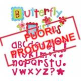 Bigz Alphabet Set 4 Dies - Butterfly Kisses by Stephanie Ackerman