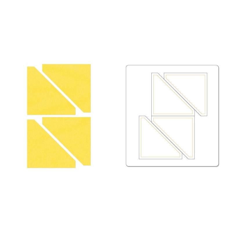 Sizzix, Bigz Die Half-Square Triangles, 2 1/2 pollici Finito
