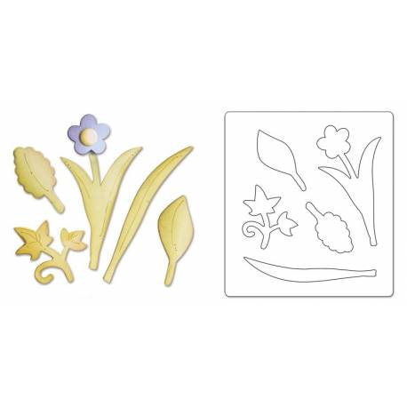 Sizzix, Bigz Die - Leaves, Bouquet