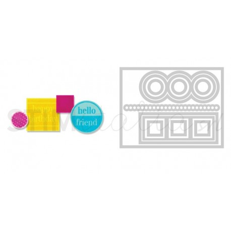 Sizzix, Framelits Die Set 12PK w/Stamps - Love, Hugs & Hearts by Stephanie Barnard