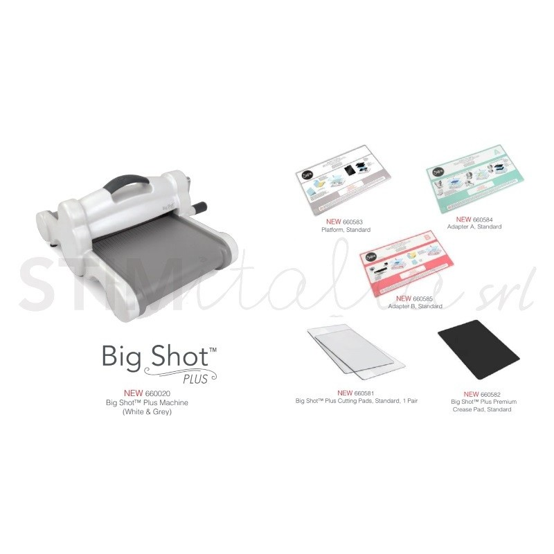 sizzix big shot plus machine only white gray new by. Black Bedroom Furniture Sets. Home Design Ideas