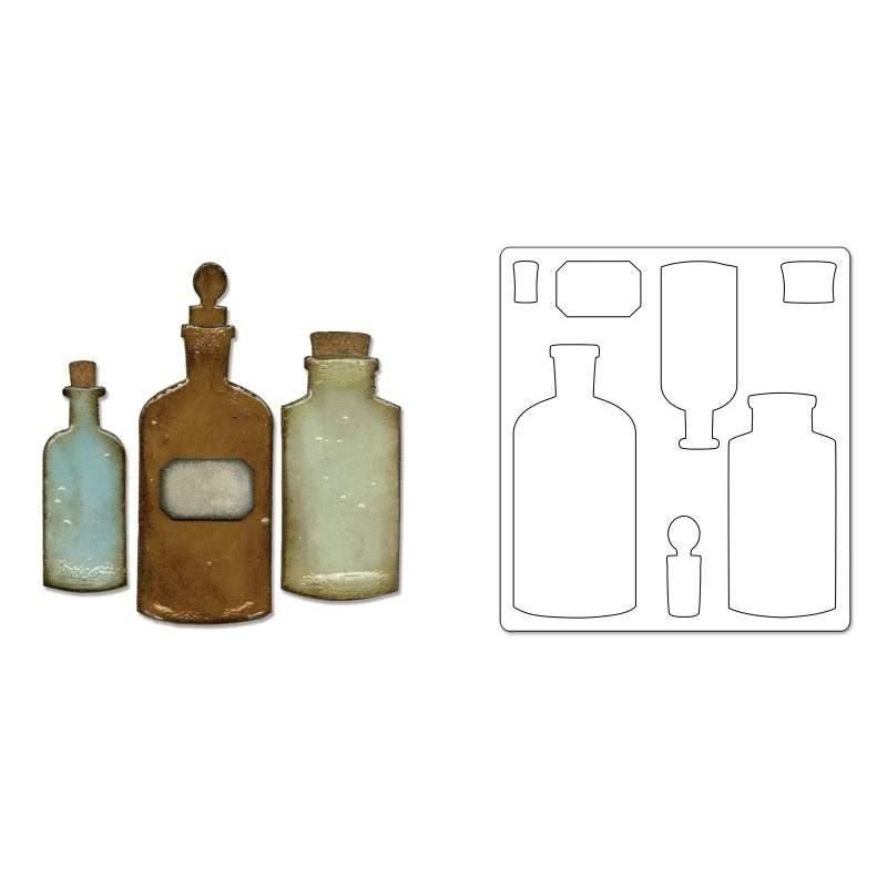 Sizzix, Bigz Die - Apothecary Bottles by Tim Holtz