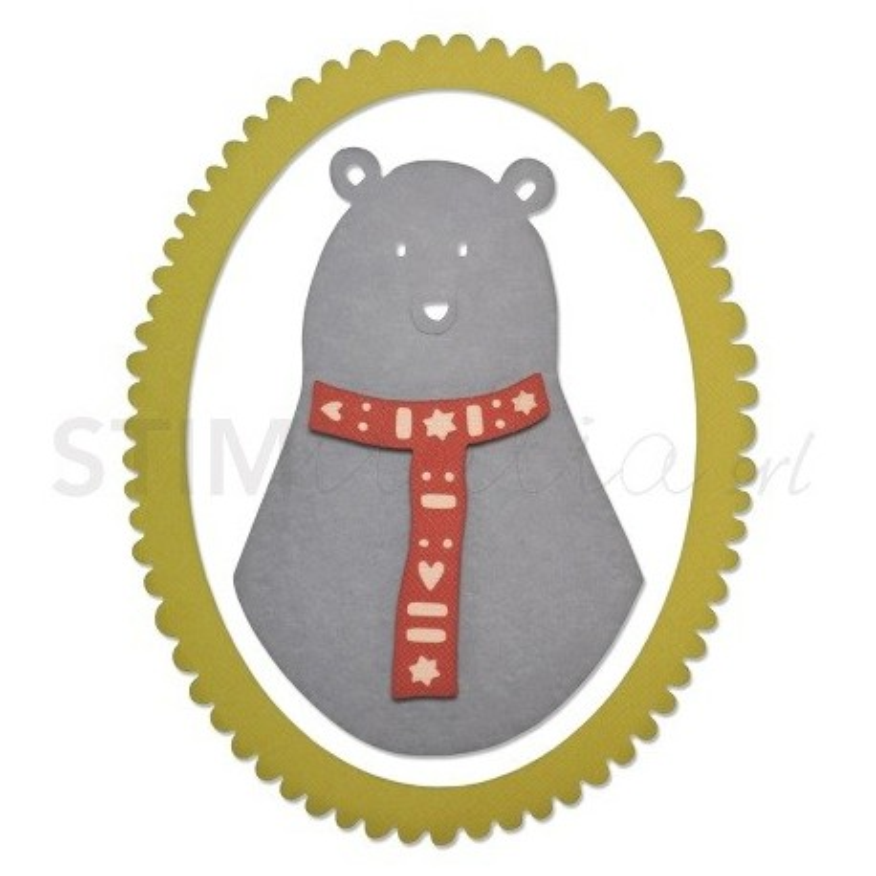 Sizzix, Thinlits Die Set 3PK Loving Bear by Craft Asylum
