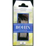 Bohin, Aghi Longues Lunghi con Punta Sottile A1F per Cucito a Mano n10 - 20pz