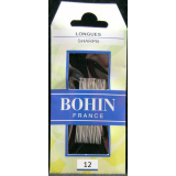 Bohin, Aghi Longues Lunghi con Punta Sottile A1F per Cucito a Mano n12 - 20pz