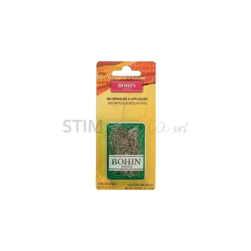 Bohin, Spilli senza Testa per Applique, in nikel da 14 x 0,60 mm - 500pz