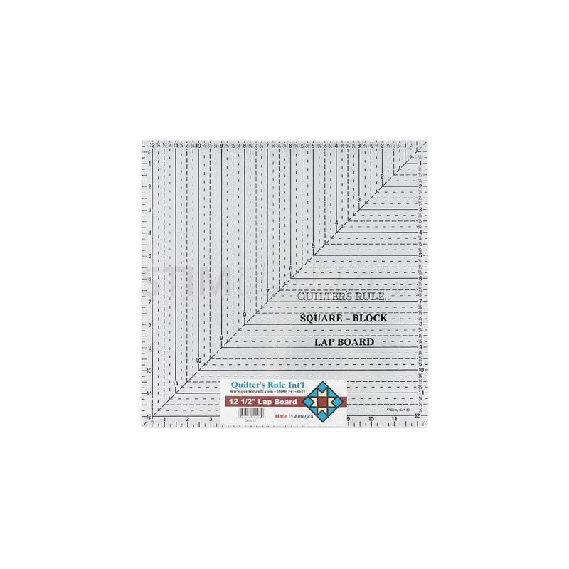 Bohin, Squadra Quadrata Patchwork Quilters Rule, Griglia blu - 17 x 17 cm