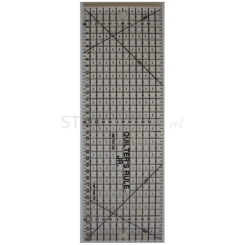 Bohin, Riga Patchwork Quilters Rule, Griglia Nera - 11 x 35 cm