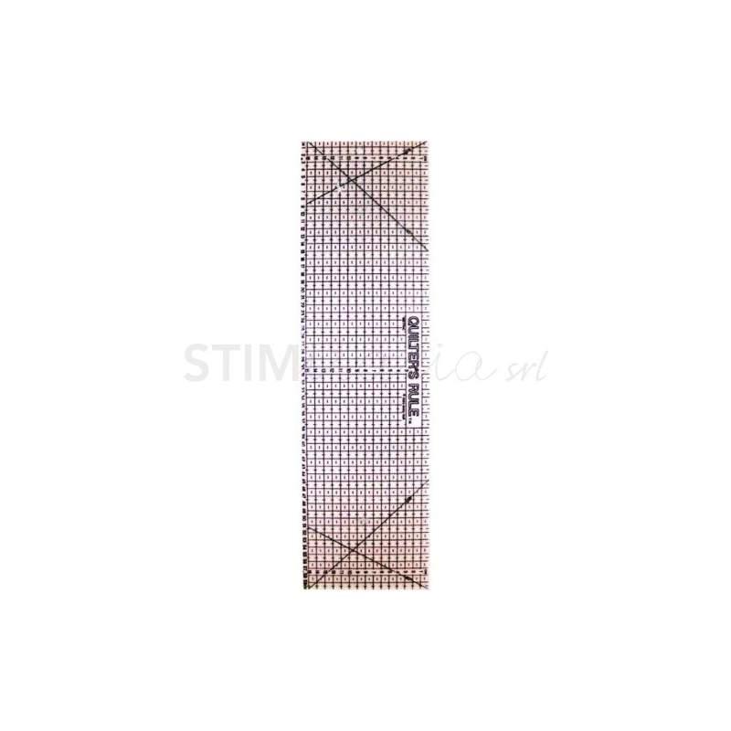 Bohin, Riga Patchwork Quilters Rule, Griglia Nera - 16 x 60 cm