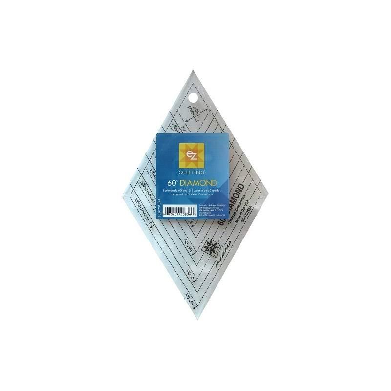 Ez Quilting 60° Diamond - Squadra Patchwork Diamante, in pollici