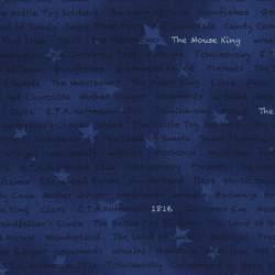 Lecien L's Modern Magical Winter Time, Tessuto Blu Sfumato con Scritte