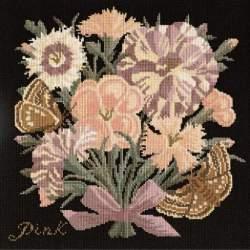 Elizabeth Bradley, Botanical Garden, PINK - 16x16 pollici