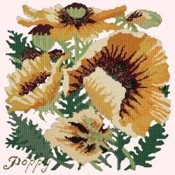 Elizabeth Bradley, Botanical Garden, YELLOW POPPY - 16x16 pollici