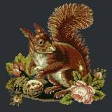 Elizabeth Bradley, Victorian Animals, THE SQUIRREL - 16x16 pollici