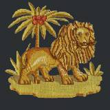 Elizabeth Bradley, Victorian Animals, THE LION - 16x16 pollici