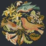 Elizabeth Bradley, Victorian Animals, THE THREE BIRDS - 16x16 pollici