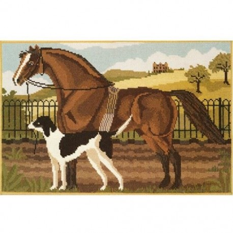 Elizabeth Bradley, Beasts of the Field, SUFFOLK PUNCH AND HOUND - 20x13 pollici