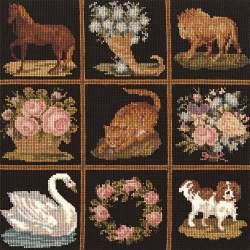Elizabeth Bradley, Decorative Victorian, PATCHWORK PIECES - 16x16 pollici