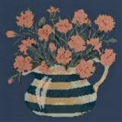 Elizabeth Bradley, Flower Pots, CARNATION JUG - 16x16 pollici