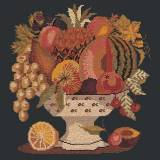Elizabeth Bradley, Fruits of the Earth, BOWL OF FRUIT - 16x16 pollici