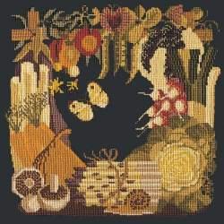 Elizabeth Bradley, Fruits of the Earth, VEGETABLES - 16x16 pollici