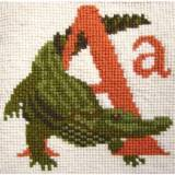 Elizabeth Bradley, Animal Alphabet, A - ALLIGATOR - 6x6 pollici