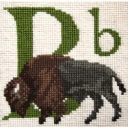 Elizabeth Bradley, Animal Alphabet, B - BUFFALO - 6x6 pollici