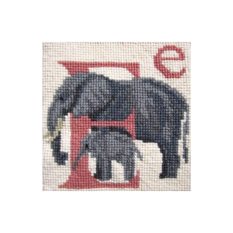 Elizabeth Bradley, Animal Alphabet, E - ELEPHANT - 6x6 pollici