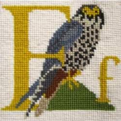 Elizabeth Bradley, Animal Alphabet, F - FALCON - 6x6 pollici
