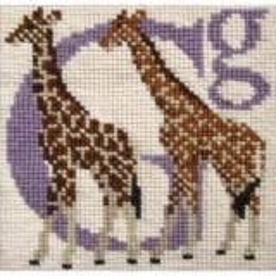 Elizabeth Bradley, Animal Alphabet, G - GIRAFFE - 6x6 pollici