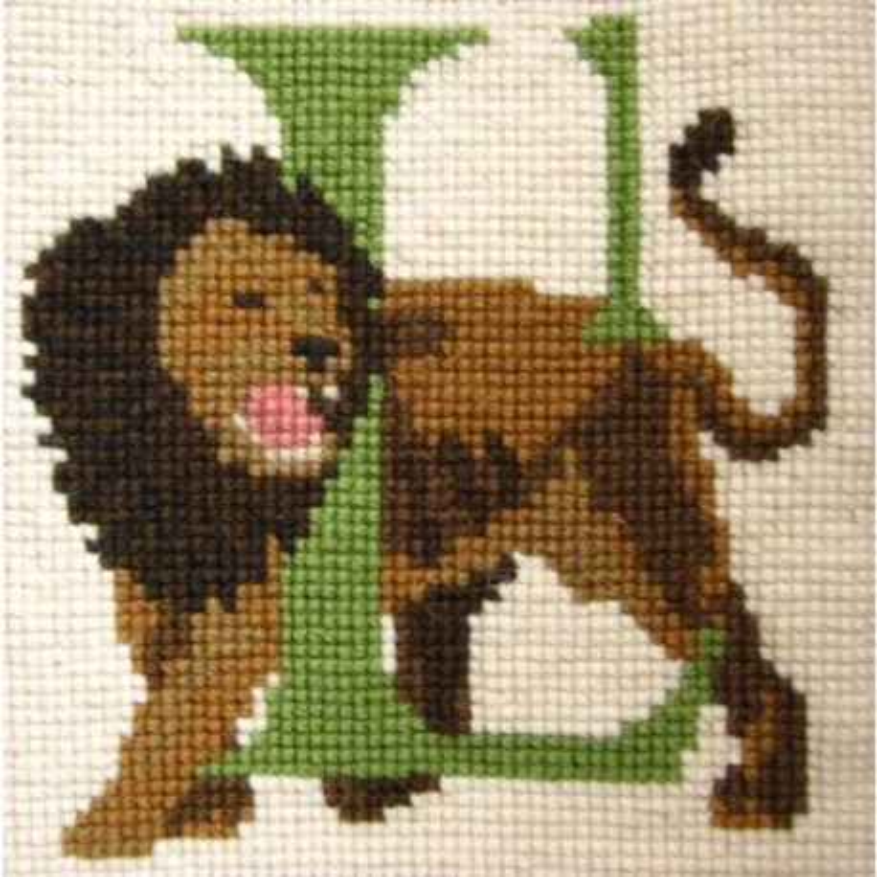 Elizabeth Bradley, Animal Alphabet, L - LION - 6x6 pollici